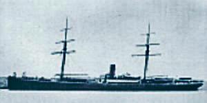 """Única foto existente del corsario boliviano """"Laura"""", de 1879."""