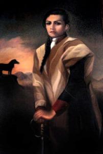 Juana Azurduy de Padilla, heroína de América.