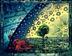 Grabado de Flammarion con leve desenfoque