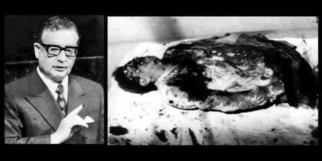 Allende acribillado