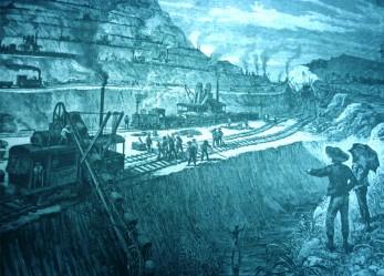 Construcción del Canal de Panamá.