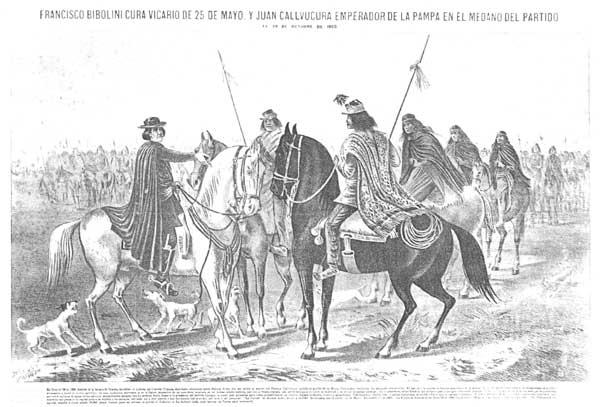 Francisco Bibolini y don Juan Calfucurá